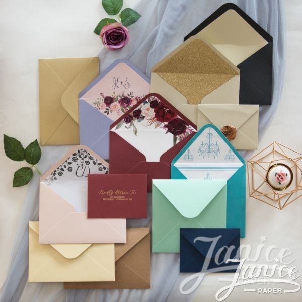 250 GSM Standard Invitation Envelopes 6 1/3 inch Square or 7 1/2*5 1/4 Inches