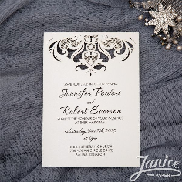 Gorgeous Chandelier Flat Laser Cut Invitations WFL0097